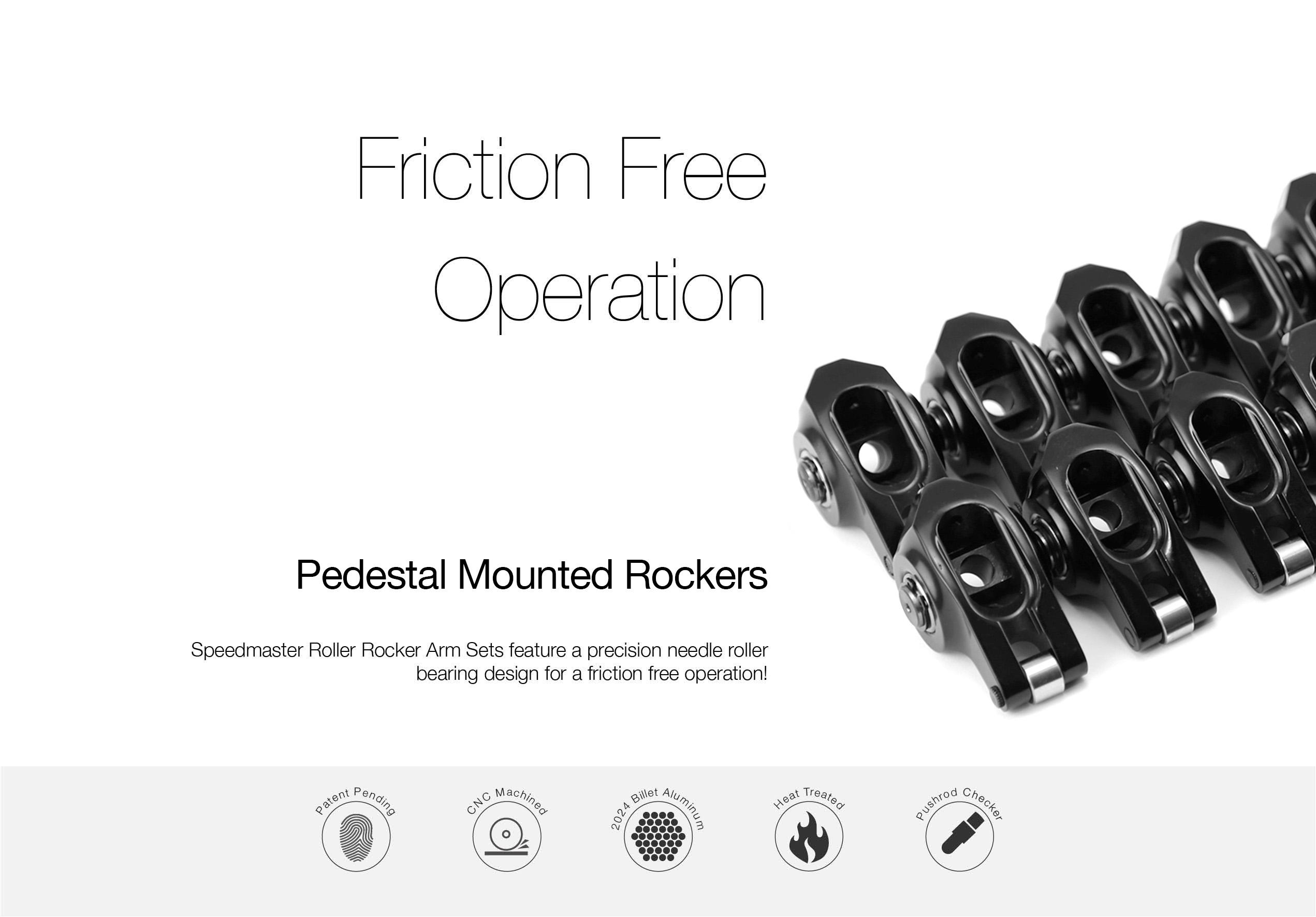 Chevy Gm Ls1 1 7 Ratio Dna Aluminum Roller Rocker Arms