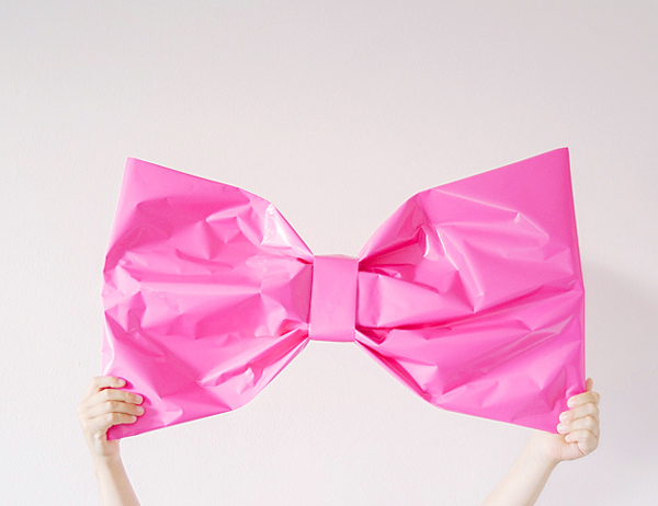 giant bow gift wrap
