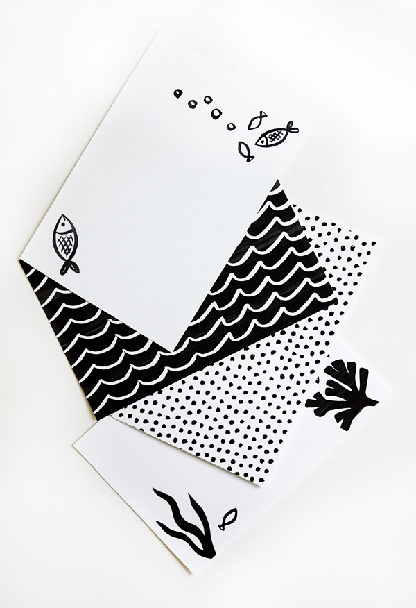 Printable Summer Notecards
