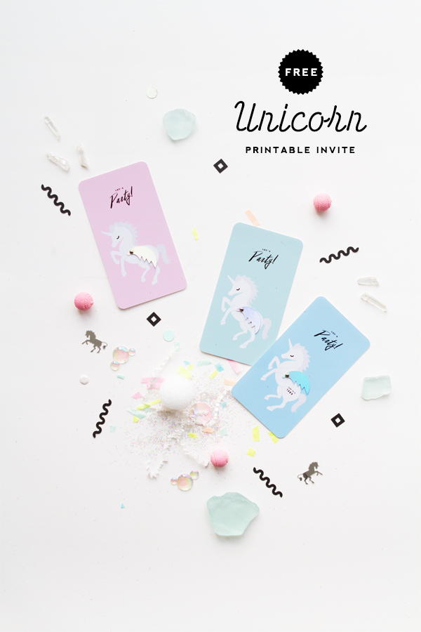 Unicorn Invitation Printable | Oh Happy Day! from Free Unicorn Printables via Mandy's Party Printables