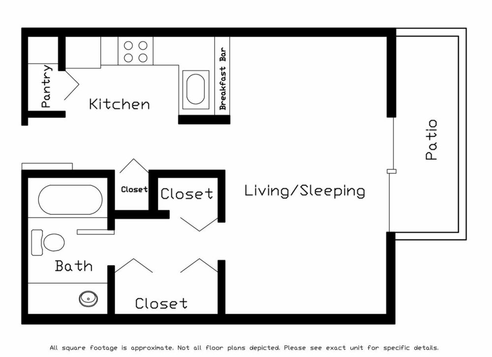 medium resolution of studio 1 bathroom apartment for rent at cherry tree crossing in madison wi