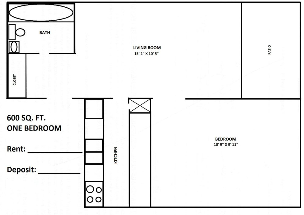 medium resolution of 1 bedroom 1 bathroom apartment for rent at town country in bloomington