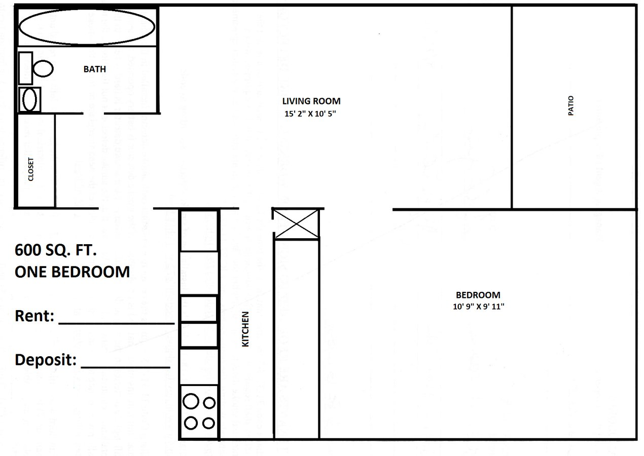 hight resolution of 1 bedroom 1 bathroom apartment for rent at town country in bloomington