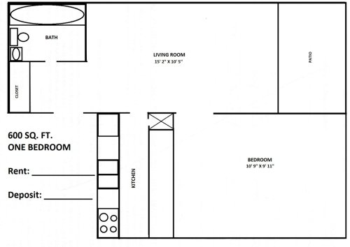small resolution of 1 bedroom 1 bathroom apartment for rent at town country in bloomington