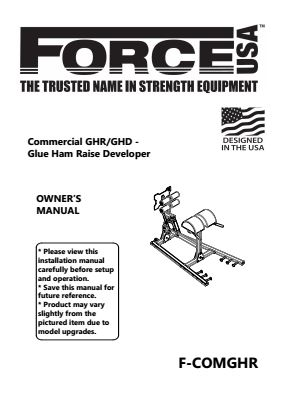 Force USA Commercial GHR/GHD Glute Ham Raise Developer