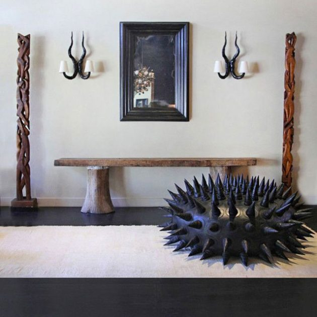 classy bean bag chairs hd designs morrison accent chair spiky leather urchin has a price as impressive it's aesthetic | mikeshouts