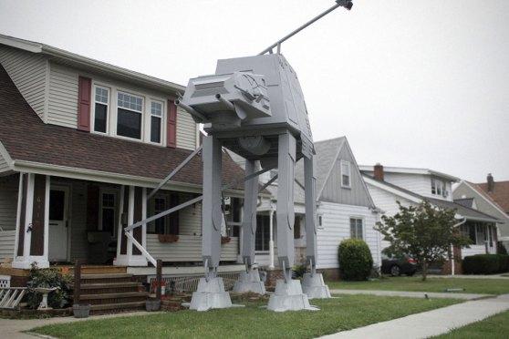 DIY 19-foot Tall Star Wars AT-AT