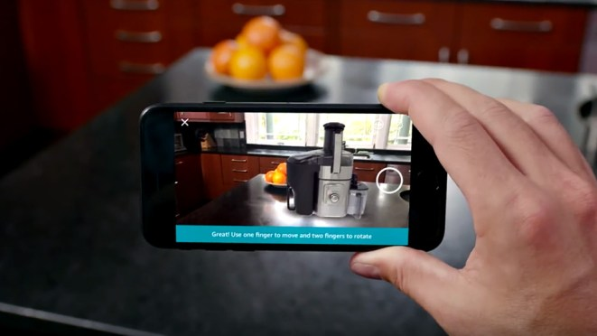 Amazon iOS Shopping App with Augmented Reality