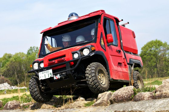 Red Ladybug Off-road Fire Truck