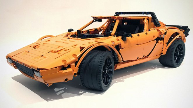 This Lancia Stratos Was Rebuilt From A LEGO Technic Porsche 911 GT3