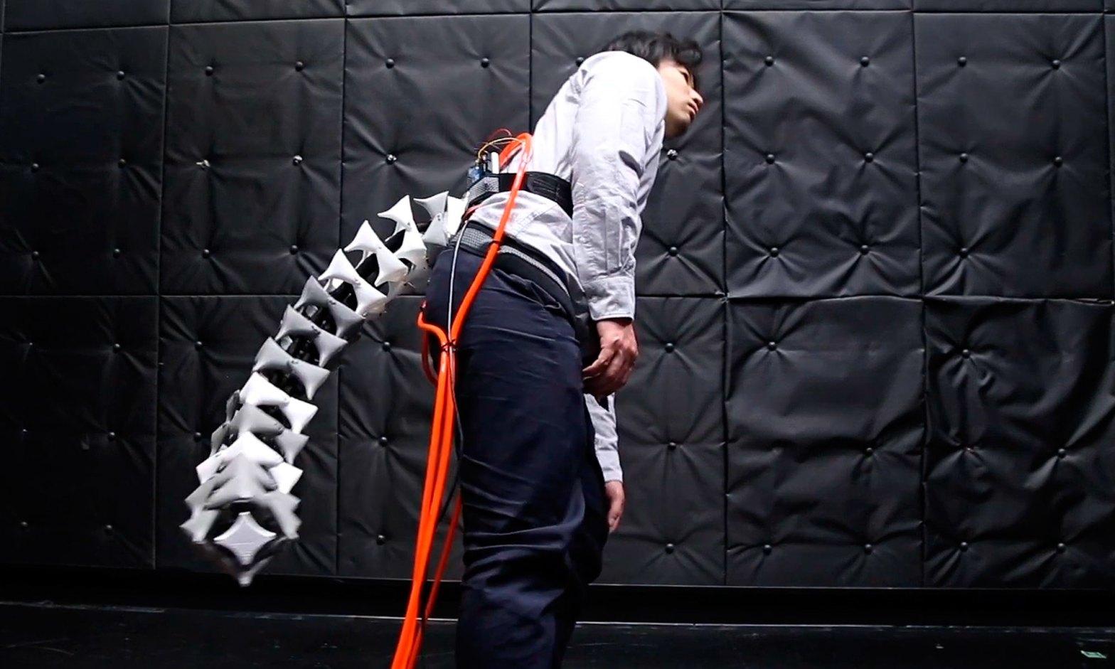 Keio University Wearable Robotic Tail