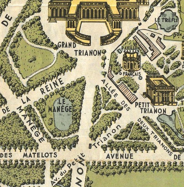 Old Map of Versailles France 1920 OLD MAPS AND VINTAGE