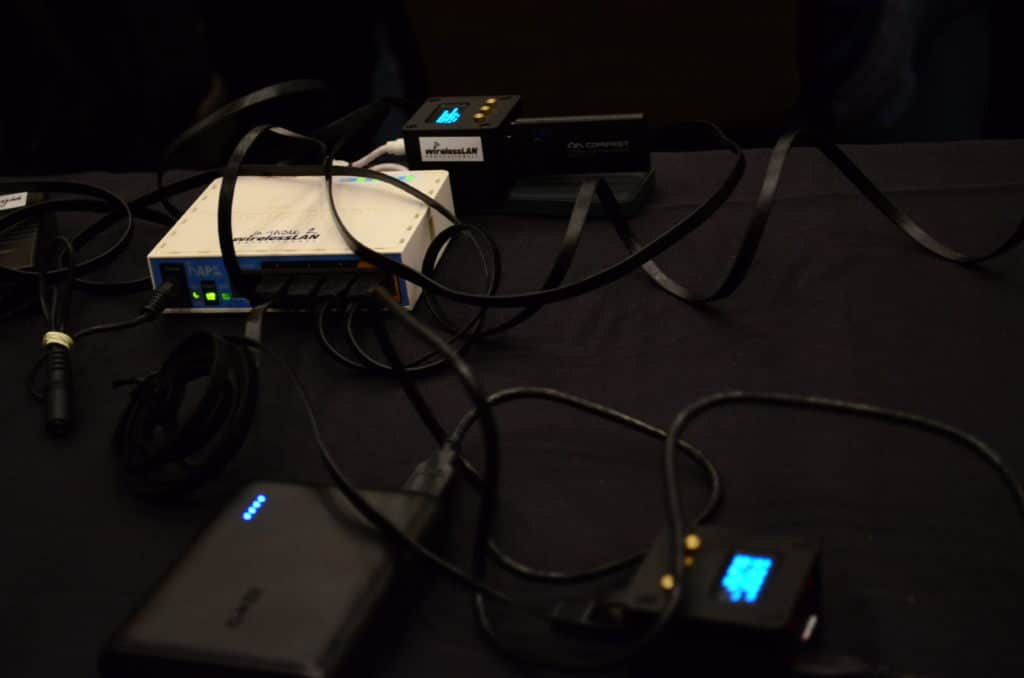 the wlpc wlan mobile testing tool in action