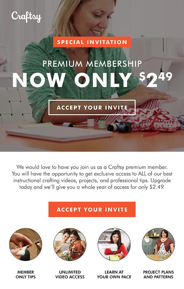 Craftsy Premium Membership