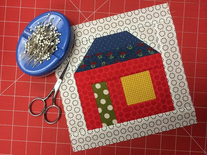 House Quilts : house, quilts, House, Quilt, Block, Pattern, Tutorial, Bluprint
