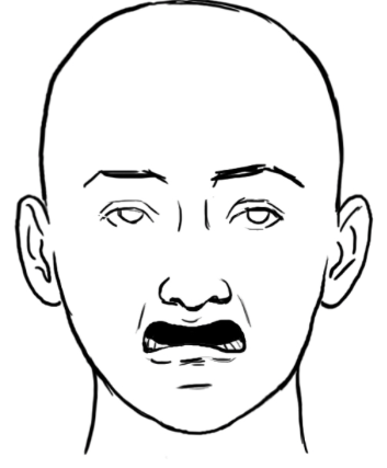 How To Draw A Sad Face : Drawing, Expressive, Faces:, Serious