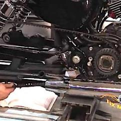 Harley Softail Frame Diagram Automotive Air Conditioning Wiring Sportster Rear Belt Removal & Replacement