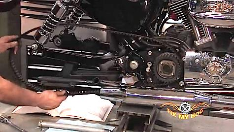harley softail frame diagram jcb js130 wiring sportster rear belt removal & replacement