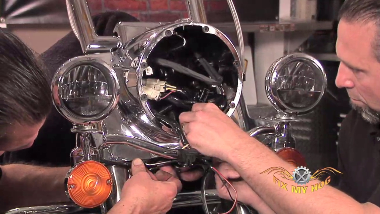 harley softail frame diagram pstn call flow road king nacelle, headlamp, and passing lamp assembly