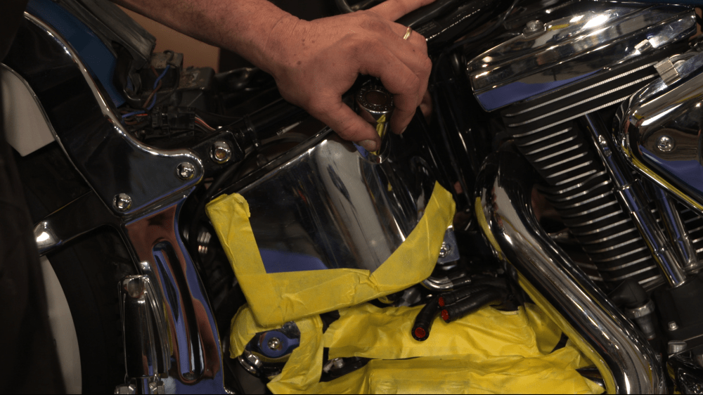 medium resolution of harley evo softail oil tank installation
