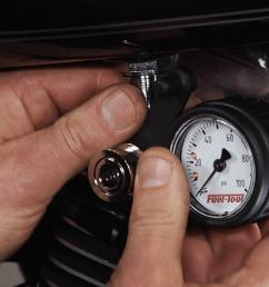 using a harley fuel pressure tester fix my hog harley davidson repair [ 1920 x 1080 Pixel ]