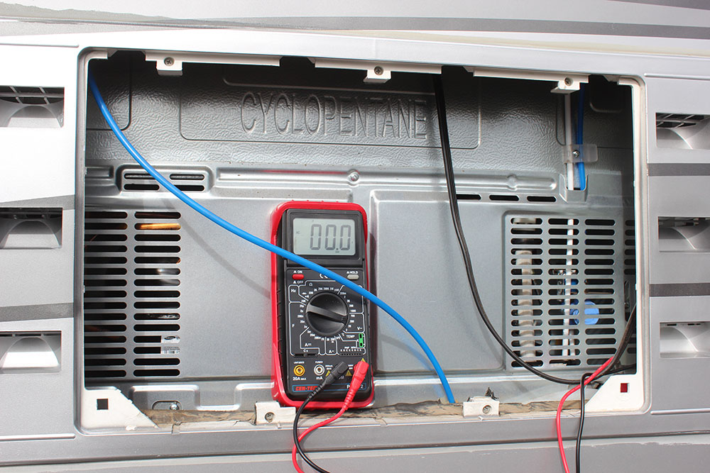 dometic rm2611 wiring diagram hopkins trailer brake control tips for rv refrigerator troubleshooting repair club use a multimeter to check voltage the