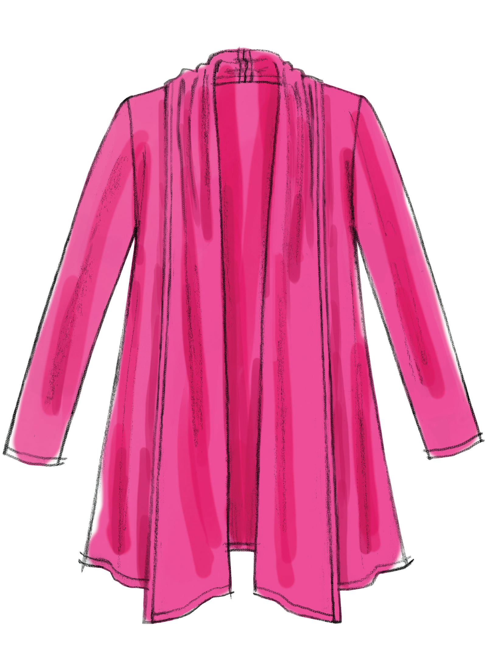 McCalls Misses Shawl Collar Cardigan Pattern  National