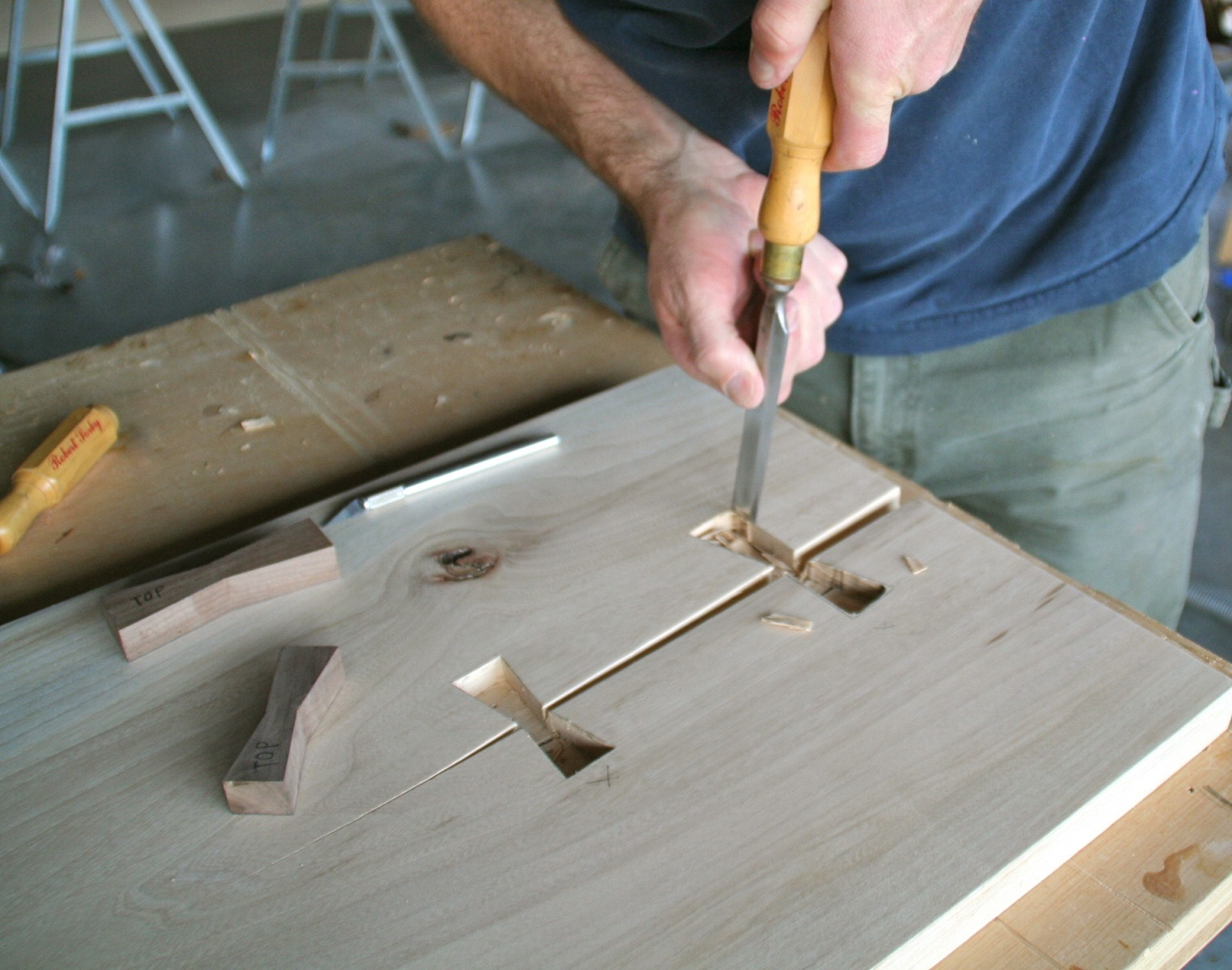 Hand Cut Mortise