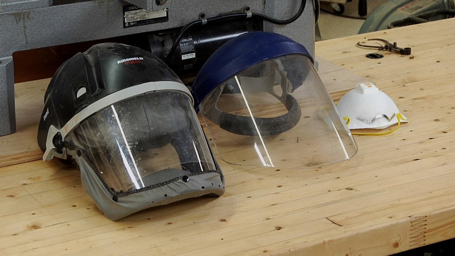 Lathe Safety Face Shield vs Respirator  WWGOA