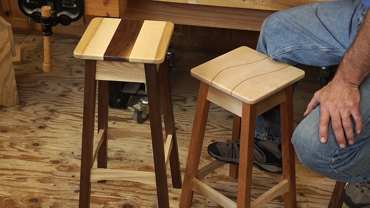 How to Build a Stool  Woodworking Video