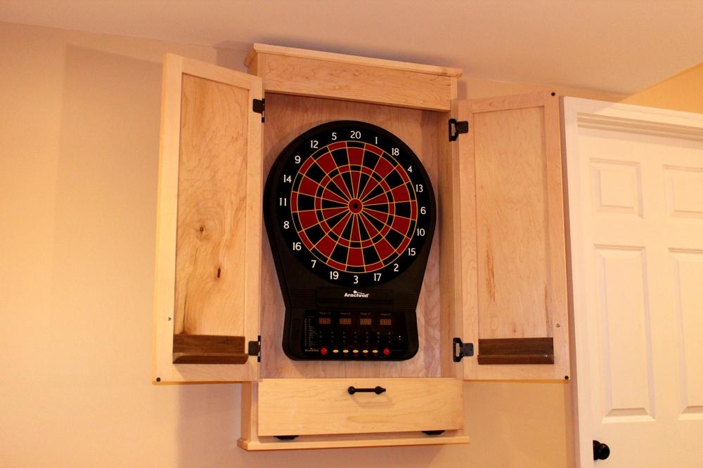 Dartboard Cabinet Size