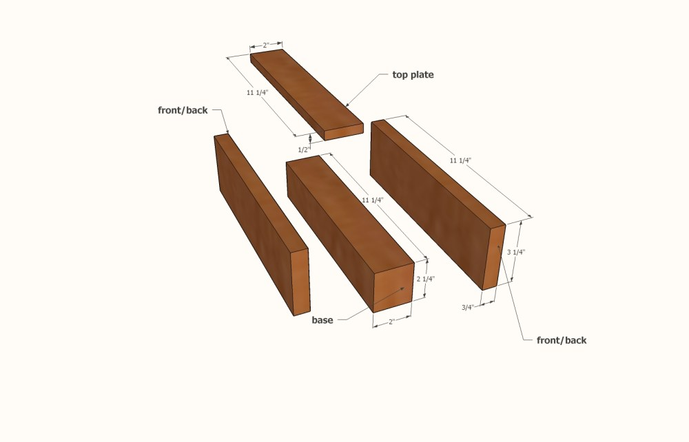 medium resolution of using a table saw cut the parts to size following the cut list