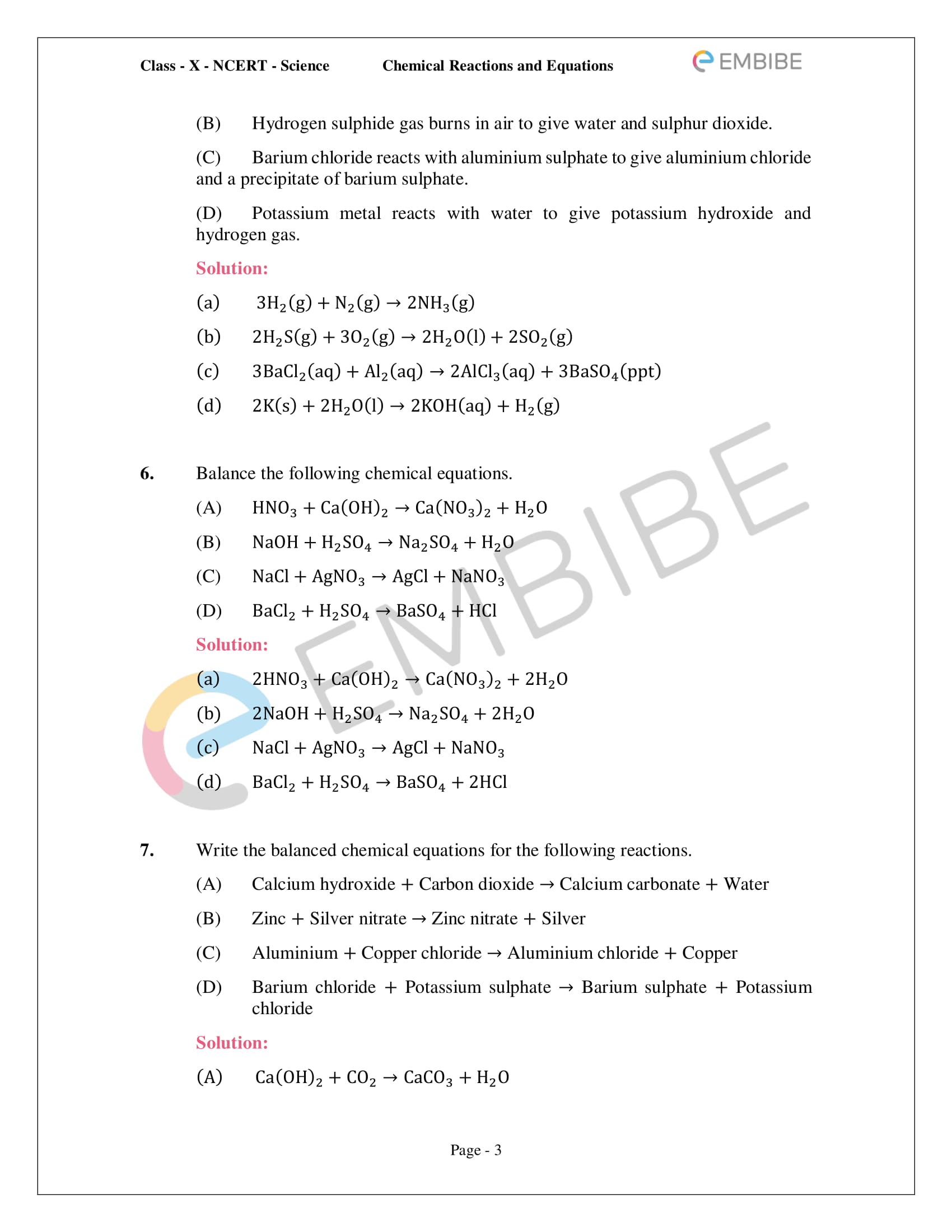 hight resolution of NCERT Solutions for Class 10 Science Chapter 1 PDF: Chemical Reactions \u0026  Equations