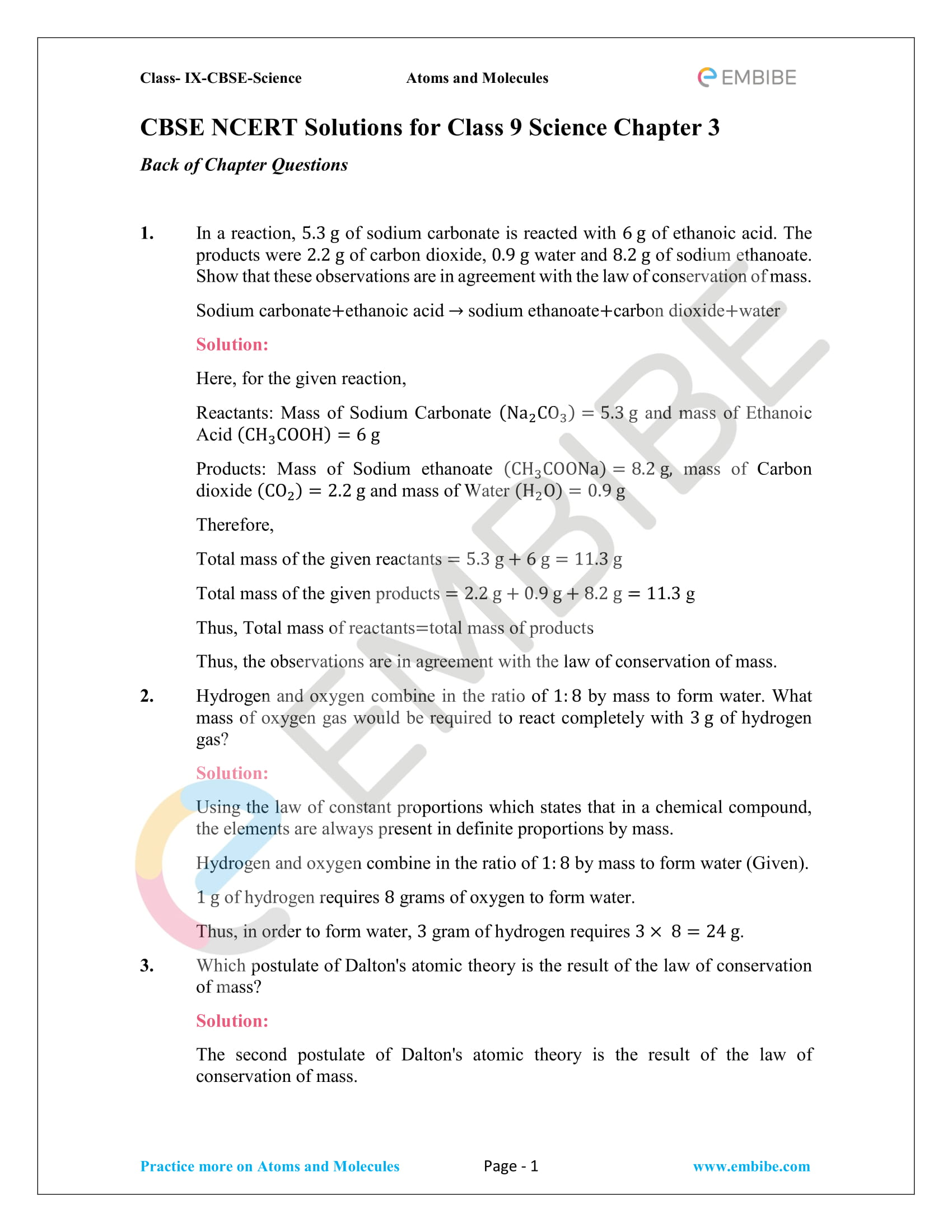 hight resolution of Atoms Molecules And Ions Chapter 9 Worksheet   Printable Worksheets and  Activities for Teachers