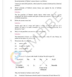 NCERT Solutions For Class 9 Science Chapter 3: Download Atoms \u0026 Molecules  Solutions PDF [ 2200 x 1700 Pixel ]