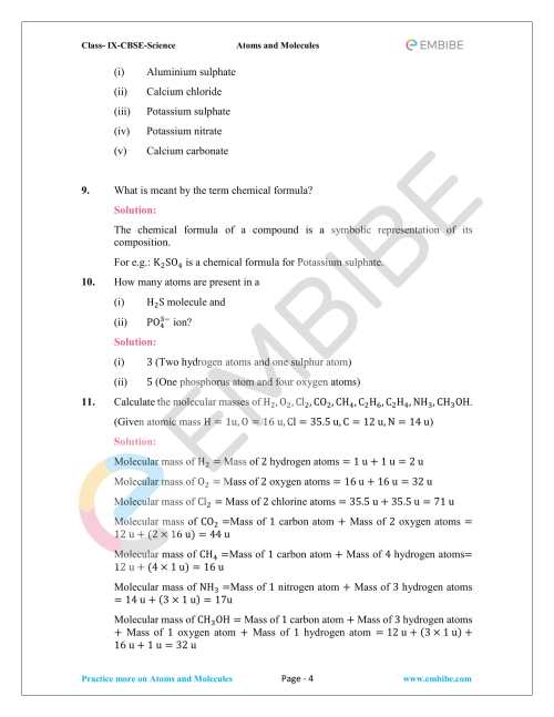 small resolution of Atoms Molecules And Ions Chapter 9 Worksheet   Printable Worksheets and  Activities for Teachers