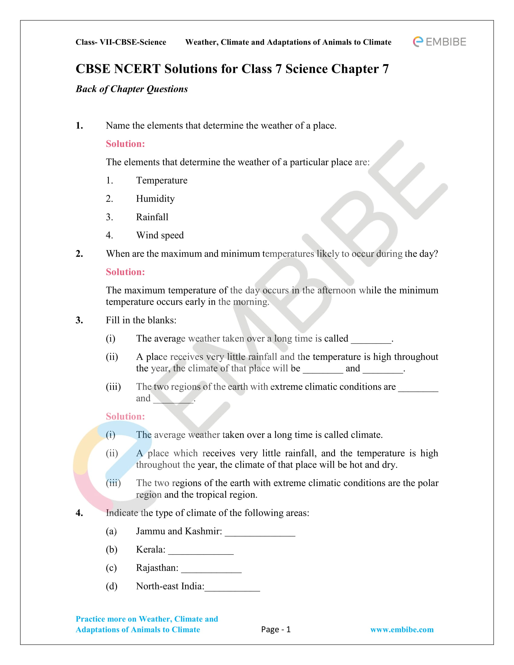 Classnotes Ncert Notes For Class 7 Science Chapter 1
