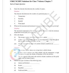NCERT Solutions For Class 7 Science Chapter 7 Weather [ 2200 x 1700 Pixel ]