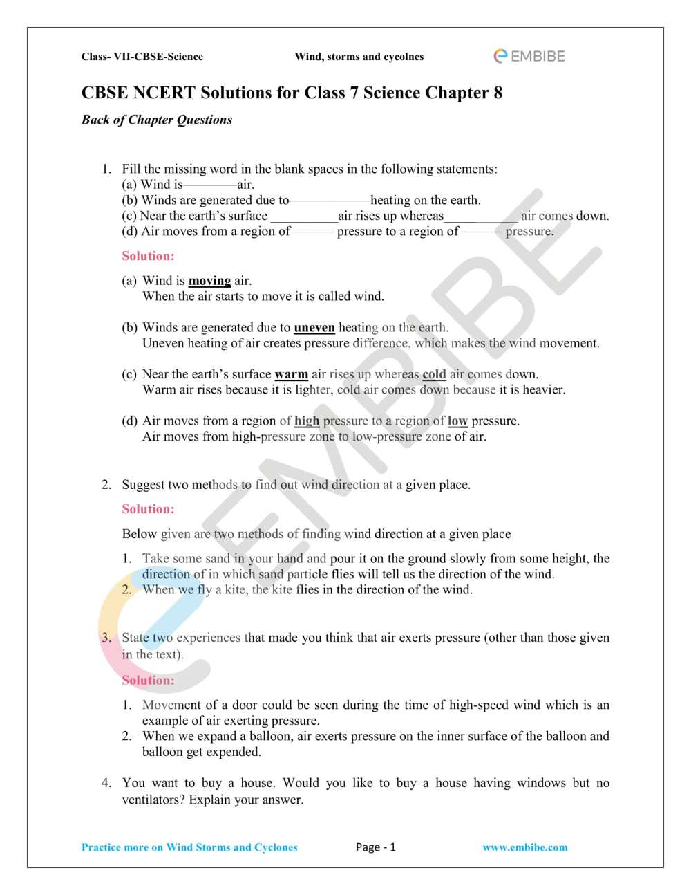 medium resolution of Wind Safety Worksheet   Printable Worksheets and Activities for Teachers