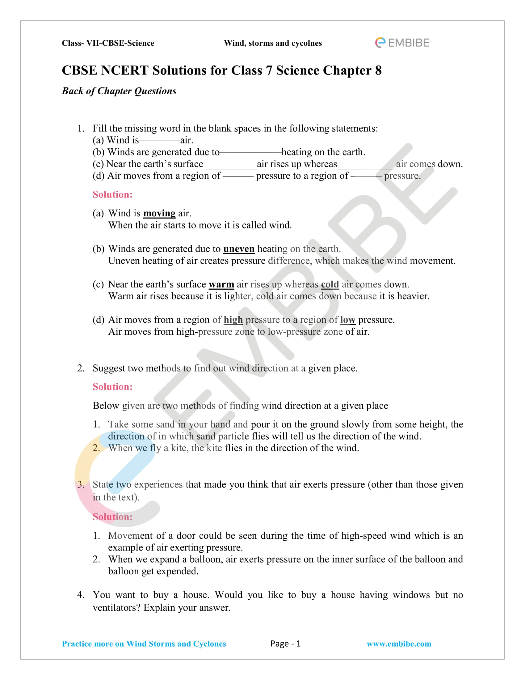 hight resolution of Wind Safety Worksheet   Printable Worksheets and Activities for Teachers