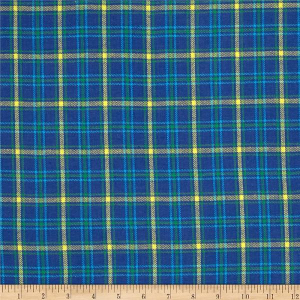Windstar Flannel Plaid Blue Yellow - Designer