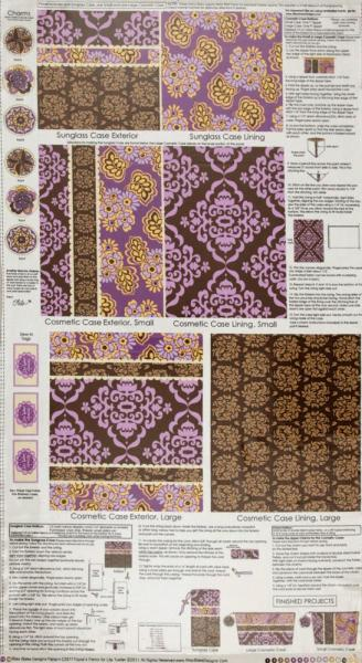 Fiona's Fancy Laminated Cotton Accessory Panel in Orchid