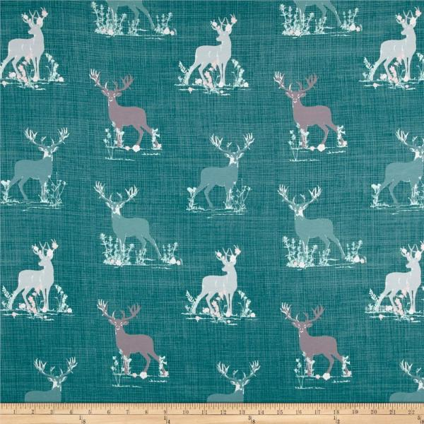 Deer Art Gallery Fabric
