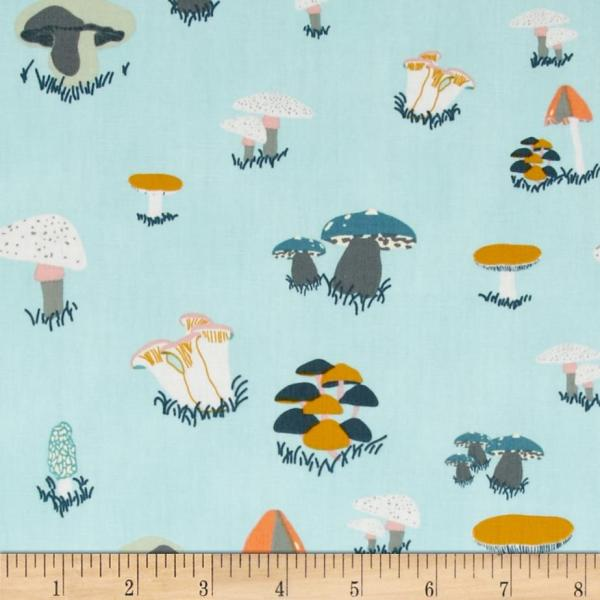 Art Bear Knit Buck Forest Mist - Designer Fabric