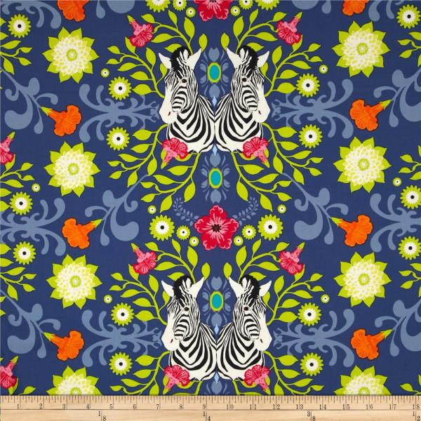 Art Safari Moon Animalia Splendor - Designer Fabric