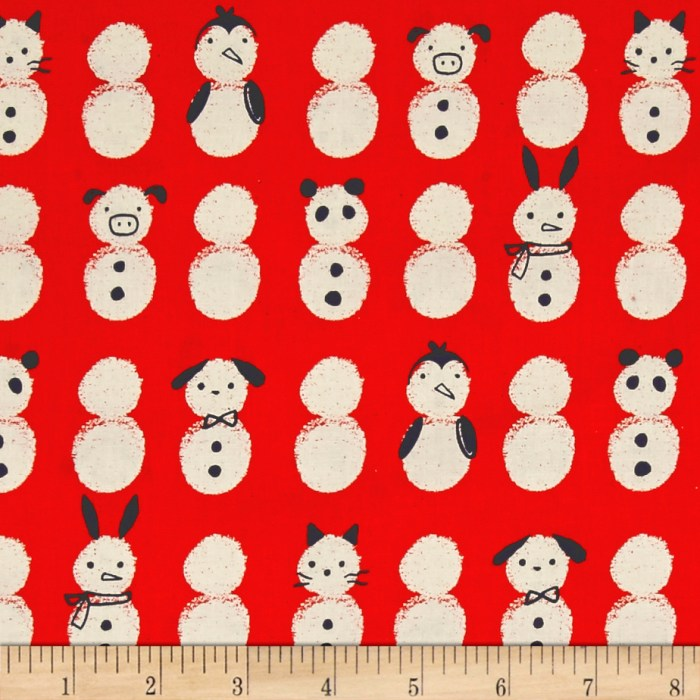 Designed by Sarah Watts for Cotton + Steel this unbleached cotton print features adorable snow babies. Perfect for quilting apparel and home decor accents. Colors include cream orange and navy.