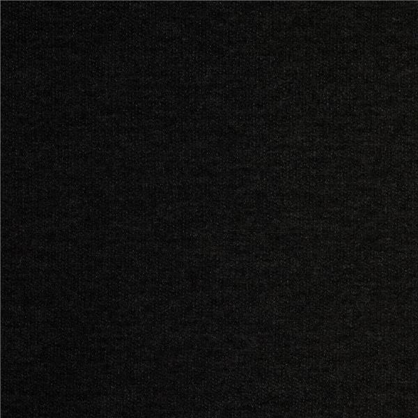 Stretch French Terry Charcoal - Designer Fabric