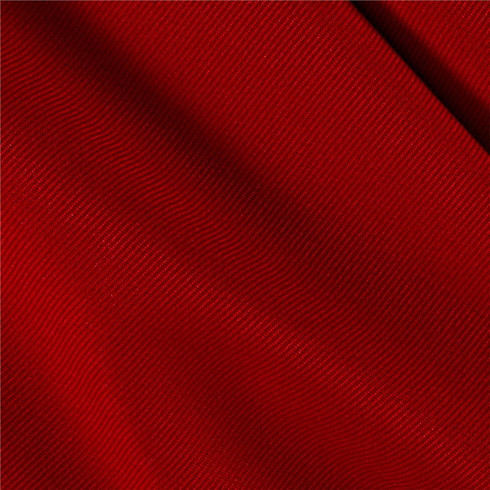 Gabardine Suiting Solid Red