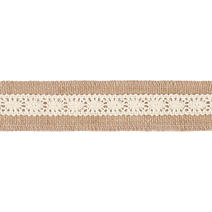 2'' Becky Jute Lace Trim Natural