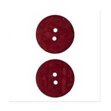 Organic Elements Coconut Button 1'' Red